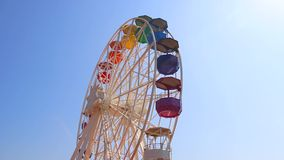Ferris wheel in tibidabo Barcelona stock video footage