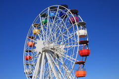 The Ferris wheel on Tibidabo. The Tibidabo big wheel in the amusement park - Barcelona Stock Photos