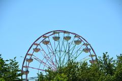 Ferris Wheel in Portland, Oregon royalty free stock photos