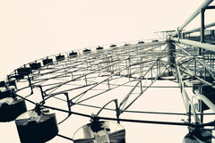 Ferris wheel toned in vintage style royalty free stock photos
