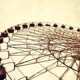 Ferris wheel toned in vintage style stock image