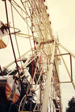 Ferris wheel toned in vintage style royalty free stock photo