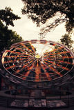 Ferris wheel toned in vintage style stock images