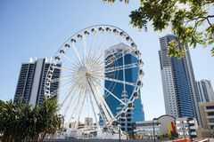 The Ferris wheel on top of the Transit Centre in Surfers Paradise Stock Photography