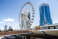 The Ferris wheel on top of the Transit Centre in Surfers Paradise Royalty Free Stock Image
