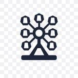 Ferris wheel transparent icon. Ferris wheel symbol design from E vector illustration