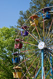 Ferris Wheel on Trees Royalty Free Stock Photography