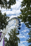 Ferris Wheel with trees Royalty Free Stock Images