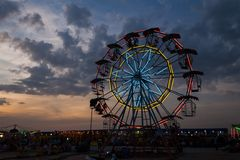Ferris wheel in twilight Royalty Free Stock Image