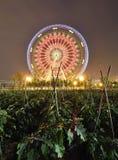 Ferris Wheel und Ackerland lizenzfreie stockfotografie