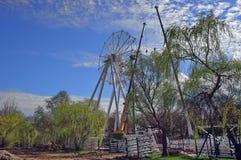 Ferris wheel under construction Stock Photos