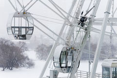 Ferris wheel under snow Royalty Free Stock Images