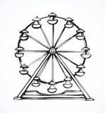Ferris wheel. Vector drawing vector illustration