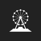 Ferris wheel vector icon. Carousel in park icon. Amusement ride illustration Royalty Free Stock Image