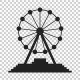 Ferris wheel vector icon. Carousel in park icon. Amusement ride. Illustration Stock Photo