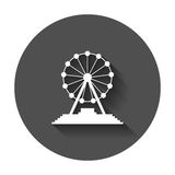 Ferris wheel vector icon. Carousel in park icon. Amusement ride Royalty Free Stock Images