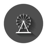 Ferris wheel vector icon. Carousel in park icon. Amusement ride Royalty Free Stock Photography
