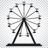 Ferris wheel vector icon. Carousel in park icon. Amusement ride Stock Image