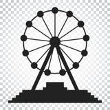 Ferris wheel vector icon. Carousel in park icon. Amusement ride Royalty Free Stock Photo