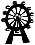 Ferris Wheel. Vector illustration of the ferris wheel Royalty Free Stock Photos