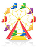Ferris wheel vector illustration Royalty Free Stock Photography