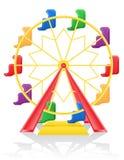 Ferris wheel vector illustration Royalty Free Stock Photography