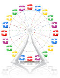 Ferris wheel vector illustration Royalty Free Stock Photo