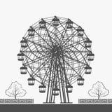 Ferris Wheel Vector Silhouette Photos libres de droits