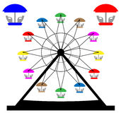 Ferris Wheel. Vector of  Ferris Wheel on white background Stock Photography