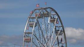 Ferris Wheel, Vergnügungspark-Fahrten stock footage