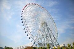 Ferris Wheel vicino al villaggio di Tempozan Habor - Osaka, Giappone Fotografia Stock Libera da Diritti