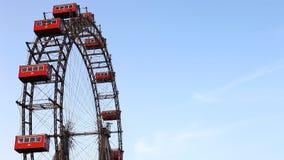 Ferris wheel of Vienna stock footage