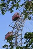 Ferris wheel in Vienna, Austria. The Riesenrad, which is a giant ferris wheel in the amusement park Prater in Vienna, Austria Royalty Free Stock Image