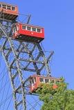 Ferris wheel in Vienna, Austria. The Riesenrad, which is a giant ferris wheel in the amusement park Prater in Vienna, Austria Stock Image