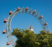 Ferris Wheel of vienna prater park Stock Photography
