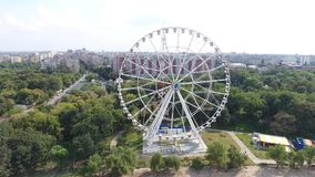 Ferris wheel view from drone stock footage