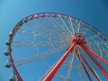 Ferris wheel. View of the ferris wheel in the park Stock Photo