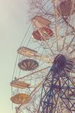 Ferris wheel. Vintage effect style pictures. Colorful ferris wheel. Vintage effect style pictures Royalty Free Stock Photo