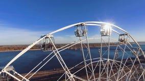Ferris Wheel a Volgograd stock footage