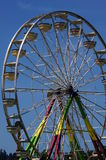 Ferris wheel. This Ferris wheel waits for passengers on the first day of lake fair Stock Photo