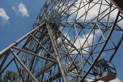 Ferris wheel on the waterfront of Khabarovsk royalty free stock image