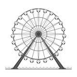 Ferris wheel. Ferris whell on a white background Stock Photos