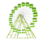 Ferris wheel on white background. 3d rendering Stock Photography