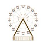 Ferris Wheel. On White Background Illustration Stock Photos