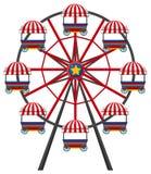 Ferris wheel on white background. Illustration Royalty Free Stock Photo