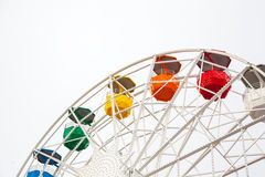 Ferris wheel on white Stock Photo