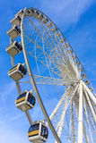 Ferris Wheel. With White Steel Frame Royalty Free Stock Images