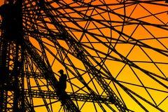 Ferris Wheel Worker stock afbeeldingen