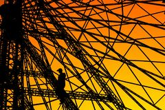 Ferris Wheel Worker immagini stock