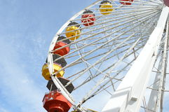Ferris Wheel. In the world famous Santa Monica Pier in southern California Royalty Free Stock Photos